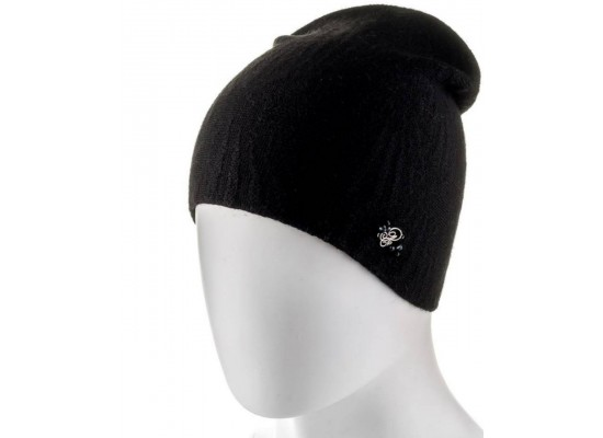 Женская шапка № 7 (Двойная, разные цвета)